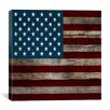 iCanvas Flags U.S.A. - Wood Board Graphic Art on Canvas