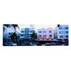 iCanvas Panoramic Traffic on Road in front of Hotels, Ocean Drive, Miami, Florida Photographic Print on Canvas