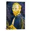 iCanvas 'Selbstbildnis 'Self Portrait', 1887' by Vincent Van Gogh Painting Print on Canvas