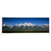 iCanvasArt Panoramic Teton Point Turnout, Teton Range, Grand Teton National Park, Wyoming Photographic Print on Canvas