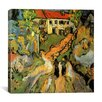 "iCanvas ""Village Street and Steps in Auvers with Two Figures"" Canvas Wall Art by Vincent Van Gogh"