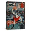 iCanvasArt 'Urawa Station' by Kuniyoshi Painting Print on Canvas