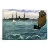 iCanvas 'The Kearsarge at Boulogne' by Edouard Manet Painting Print on Canvas