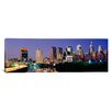iCanvas Panoramic U.S. Pennsylvania, Philadelphia Skyline, Night Photographic Print on Canvas