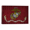 <strong>iCanvasArt</strong> Flags U.S. Marine Grunge Metal Rivets Graphic Art on Canvas