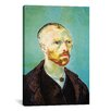 iCanvas 'Self Portrait (Dedicated to Paul Gauguin)' by Vincent Van Gogh Painting Print