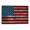 iCanvasArt U.S. Constitution - American Flag, Wood Boards Graphic Art on Canvas