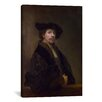 iCanvasArt 'Self Portrait at the Age of 34 1640' by Rembrandt Painting Print on Canvas