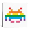 iCanvas Space Invader - Pride Invader Canvas Wall Art
