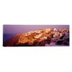 iCanvasArt Panoramic Town on a Cliff, Santorini, Greece Photographic Print on Canvas