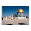 iCanvas Panoramic Town Square, Dome of the Rock, Temple Mount, Jerusalem, Israel Photographic Print on Canvas