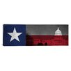iCanvasArt Flags Texas Capitol Building Panoramic Graphic Art on Canvas