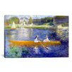 <strong>iCanvasArt</strong> 'The Seine at Asnieres' by Pierre-Auguste Renoir Painting Print on Canvas