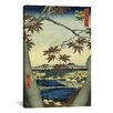 "iCanvasArt ""The Maple Leaves of Mama, Tekona Shrine and Tsugi Bridge"" Canvas Wall Art by Utagawa Hiroshige l"
