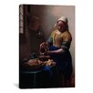 <strong>iCanvasArt</strong> 'The Milkmaid' by Johannes Vermeer Painting Print on Canvas