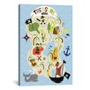 "iCanvas ""Treasure Map"" Canvas Wall Art by Erin Clark"