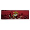 <strong>iCanvasArt</strong> Flags U.S. Marine Grunge Modern Soldiers Panoramic Graphic Art on Canvas