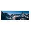 iCanvas Panoramic Skiers on Mountains in Winter, Matterhorn, Switzerland Photographic Print on Canvas