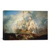 iCanvas 'The Battle of Trafalgar 1822-1824' by Joseph William Turner Painting Print on Canvas