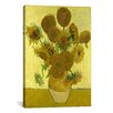 iCanvas 'Sunflowers' by Vincent Van Gogh Painting Print on Canvas