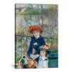 iCanvasArt 'Two Sisters (On the Terrace) 1881' by Pierre-Auguste Renoir Painting Print on Canvas