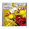 <strong>iCanvasArt</strong> Marvel Comics Book Iron Man Panel Art B Graphic Art on Canvas