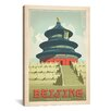 iCanvas 'Temple of Heaven - Beijing, China' by Anderson Design Group Vintage Advertisment on Canvas
