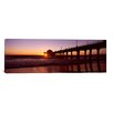 iCanvas Panoramic Manhattan Beach Pier, Manhattan Beach, Los Angeles County, California Photographic Print on Canvas