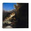 "<strong>iCanvasArt</strong> ""The Abduction of Proserpina"" Canvas Wall Art by Rembrandt"