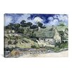 iCanvasArt 'Thatched Cottages at Cordeville' by Vincent Van Gogh Painting Print on Canvas
