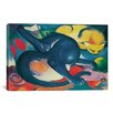 iCanvas 'Two Cats (Blue and Yellow)' by Franz Marc Painting Print on Canvas