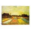 iCanvas 'Tulpenfelder (Tulip Fields)' by Vincent Van Gogh Painting Print on Canvas