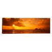 iCanvas Panoramic Silhouette of Rock Formations in Water, Northern California, California Photographic Print on Canvas