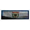 iCanvas Flags West Virginia Snowshoe Mountain with Wood Planks Panoramic Graphic Art on Canvas