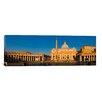 iCanvasArt Panoramic Sunlight falling on a basilica, St. Peter's Basilica, St. Peter's Square, Vatican city, Rome, Lazio, Italy Photographic Print on Canvas