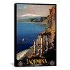 iCanvasArt Vintage Posters Taormina from Apple Vintage Advertisement on Canvas