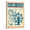 iCanvas 'Welcome Sailors' by Anderson Design Group Vintage Advertisment on Canvas