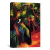 iCanvas 'Sunny Way' by August Macke Painting Print on Canvas