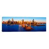 <strong>iCanvasArt</strong> Panoramic Sunrise at Navy Pier, Lake Michigan, Chicago, Illinois Photographic Print on Canvas