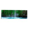 <strong>iCanvasArt</strong> Panoramic Mossbrae Falls, Sacramento River, Siskiyou County, California Photographic Print on Canvas