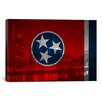 <strong>iCanvasArt</strong> Flags Tennessee City Skyline Graphic Art on Canvas