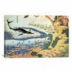 iCanvasArt 'Whaling off Goto from Oceans of Wisdom 1834' by Katsushika Hokusai Painting Print on Canvas