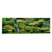 <strong>iCanvasArt</strong> Panoramic Waterfall in a Garden, Japanese Garden, Washington Park, Portland, Oregon Photographic Print on Canvas