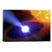 iCanvas White Dwarf Orbiting Sun Canvas Wall Art