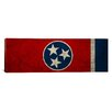 iCanvas Flags Tennessee Map Panoramic Graphic Art on Canvas