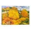 iCanvas 'Wheat Stacks in Provence' by Vincent Van Gogh Painting Print on Canvas