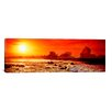 iCanvas Panoramic Waves Breaking on Rocks in the Ocean, Three Tables, North Shore, Oahu, Hawaii Photographic Print on Canvas