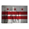 iCanvas Flags Washington, D.C Lincoln Memorial Graphic Art on Canvas