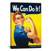 <strong>iCanvasArt</strong> 'We Can Do It! (Rosie the Riveter)' by J. Howard Miller Vintage Advertisment on Canvas