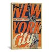 iCanvas 'We Welcome You - New York City, New York' by Anderson Design Group Vintage Advertisment on Canvas